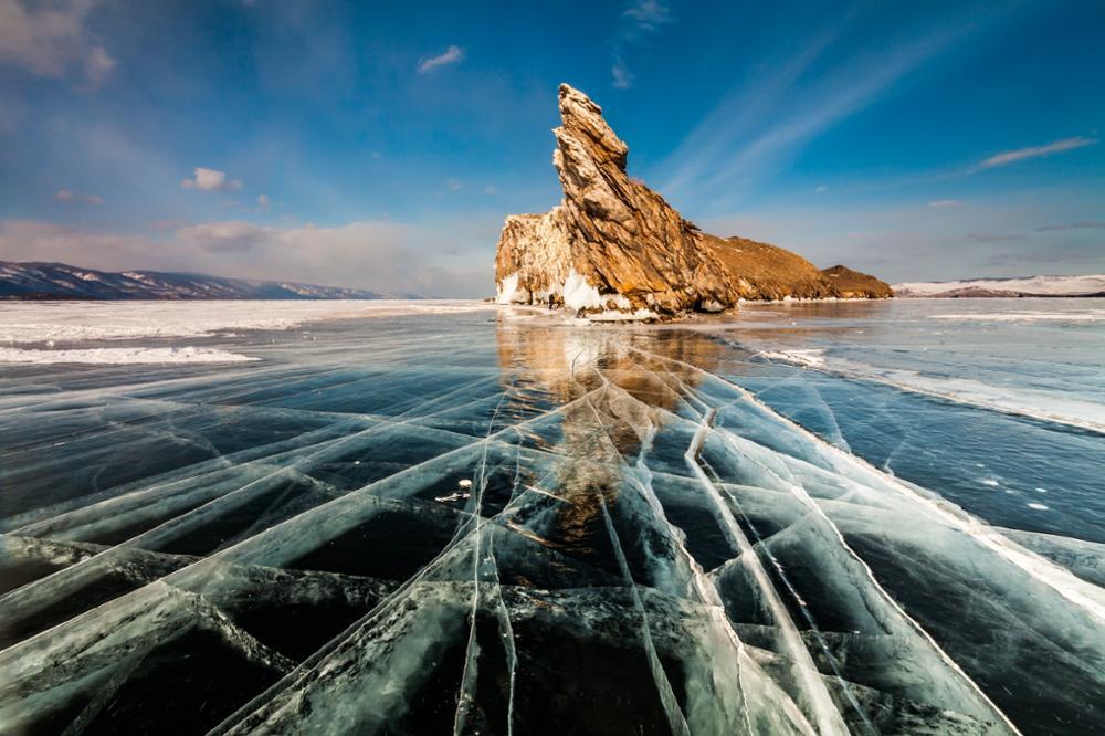 Zoom sur le lac Baïkal